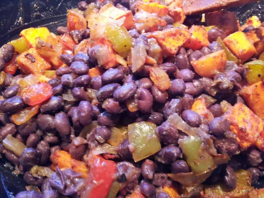sweet potato bean mix