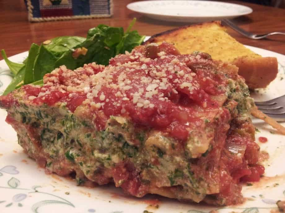 Vegan Lasagna with Tofu Spinach Ricotta