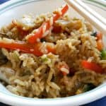 garlic veg fried rice