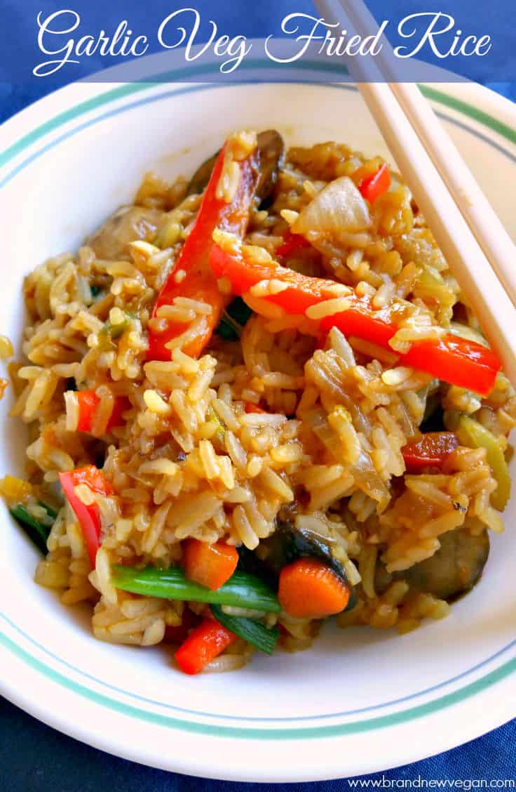garlic veg fried rice pin