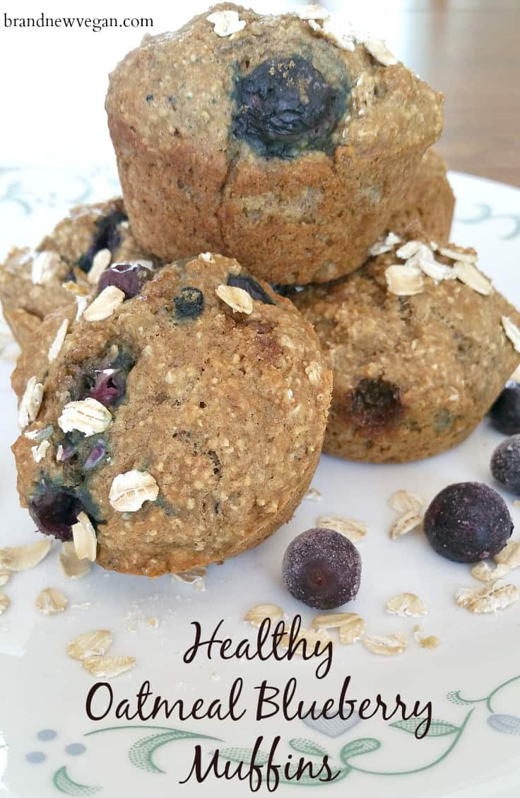 oatmeal blueberry muffins pin