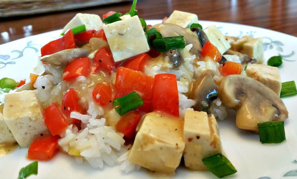 tofu mushroom curry