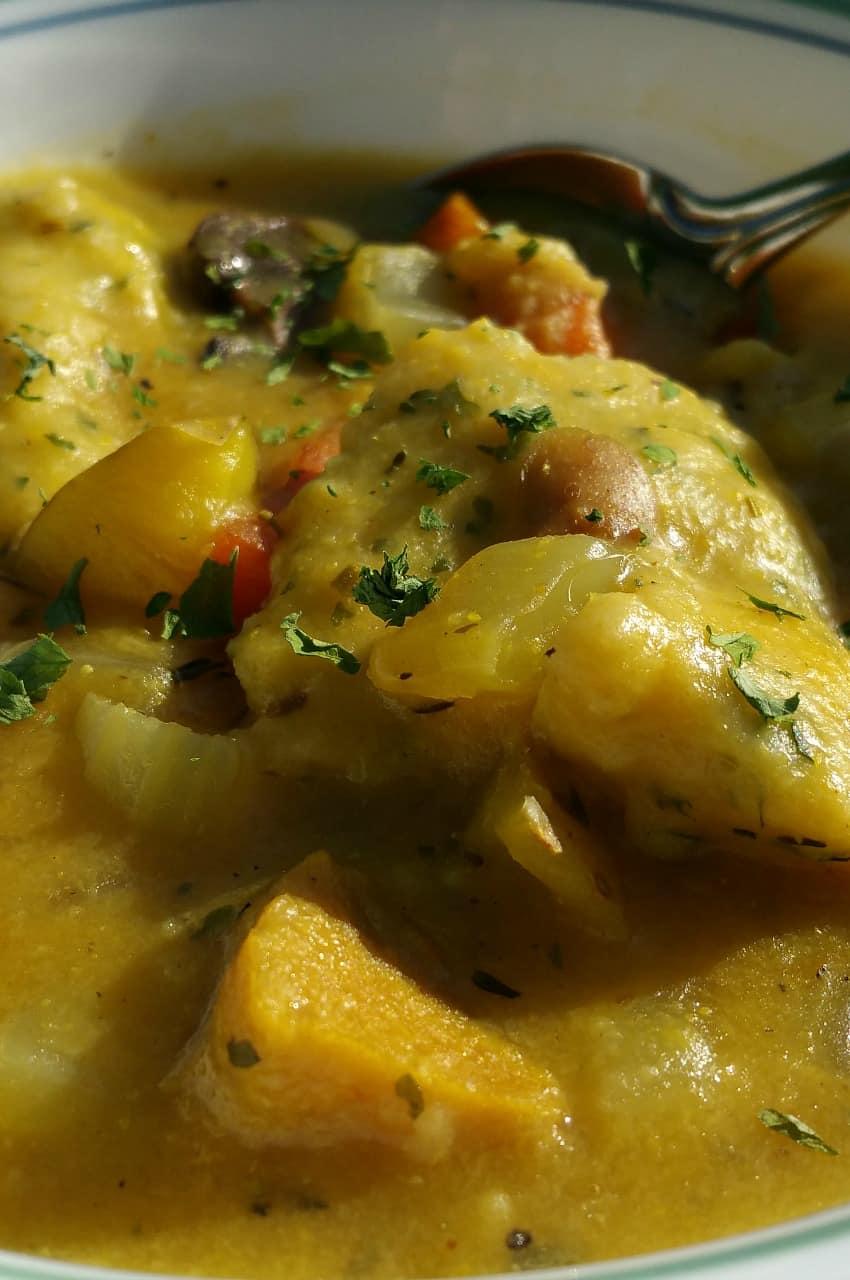 vegan chicken and dumplings