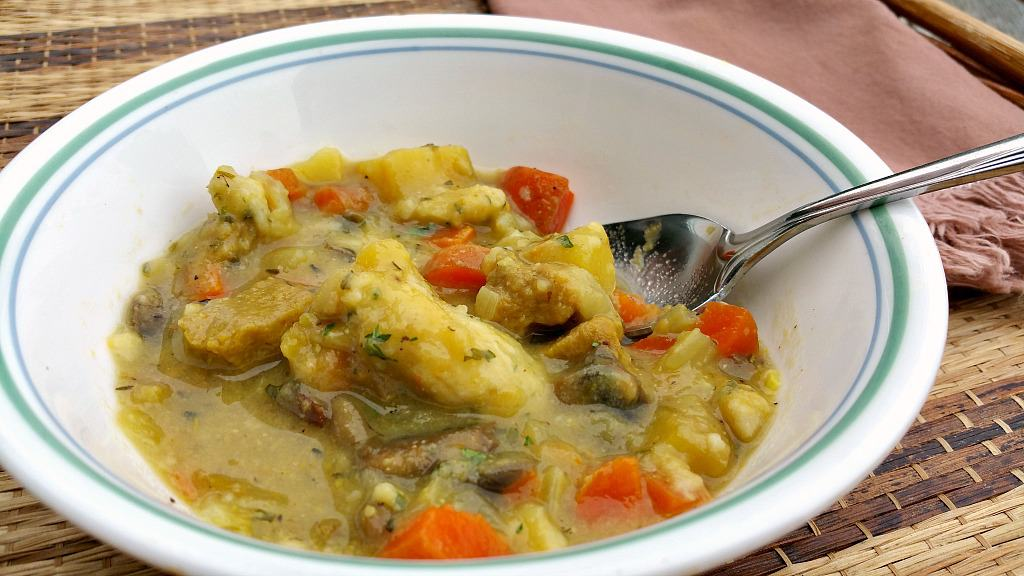 Vegan Chicken and Dumplings