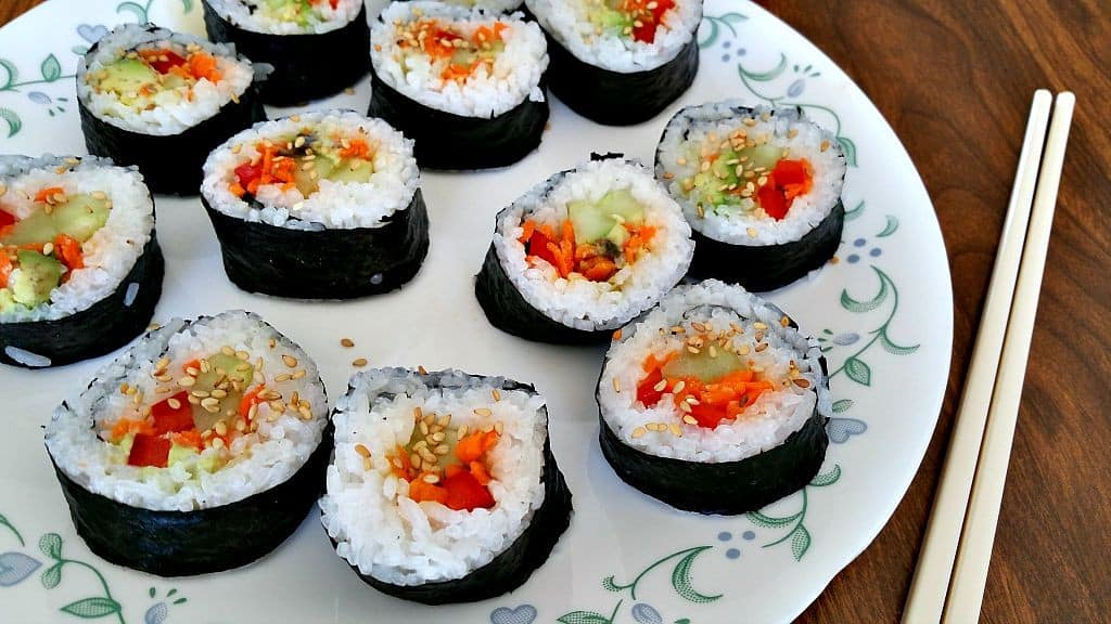 Homemade Vegan Sushi Rolls - Brand New Vegan