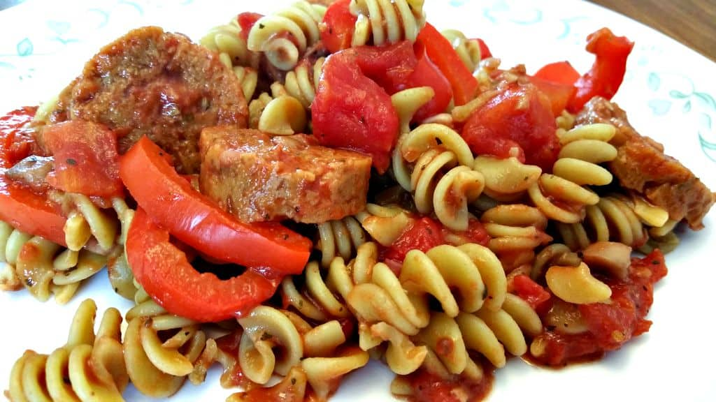 italian sausage with peppers 2