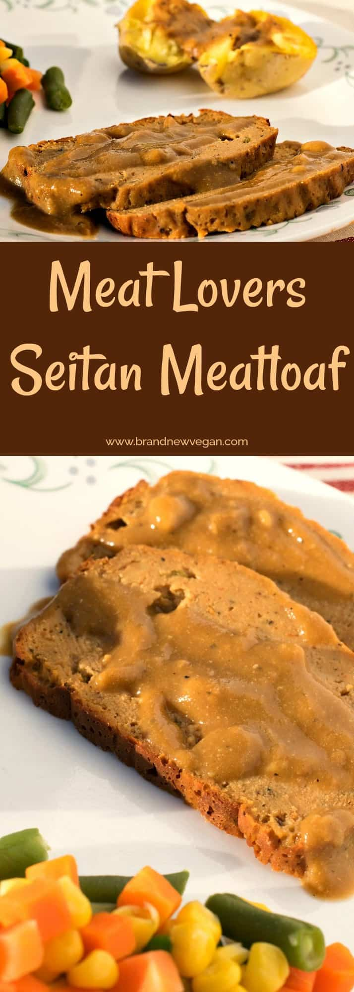 A meat lovers Seitan Meatloaf (only without the meat). Same great texture and flavor, but without all the saturated fat and cholesterol.  A holiday favorite!