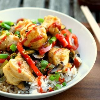 vegan orange chicken 2
