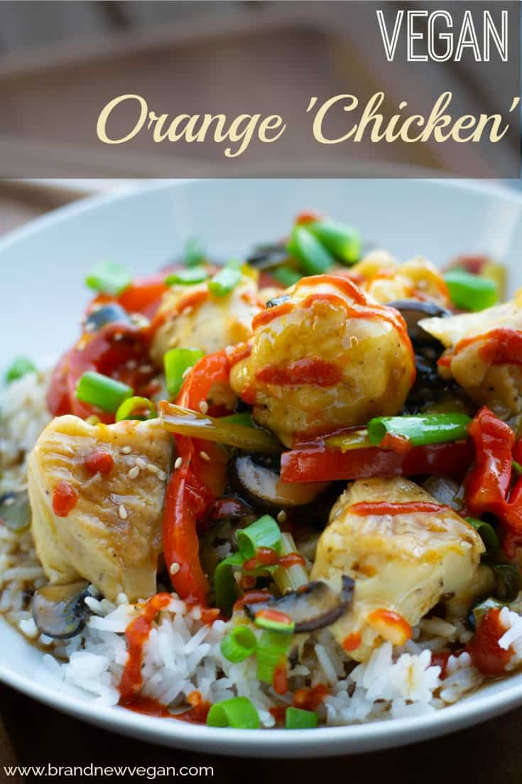 vegan orange chicken pin
