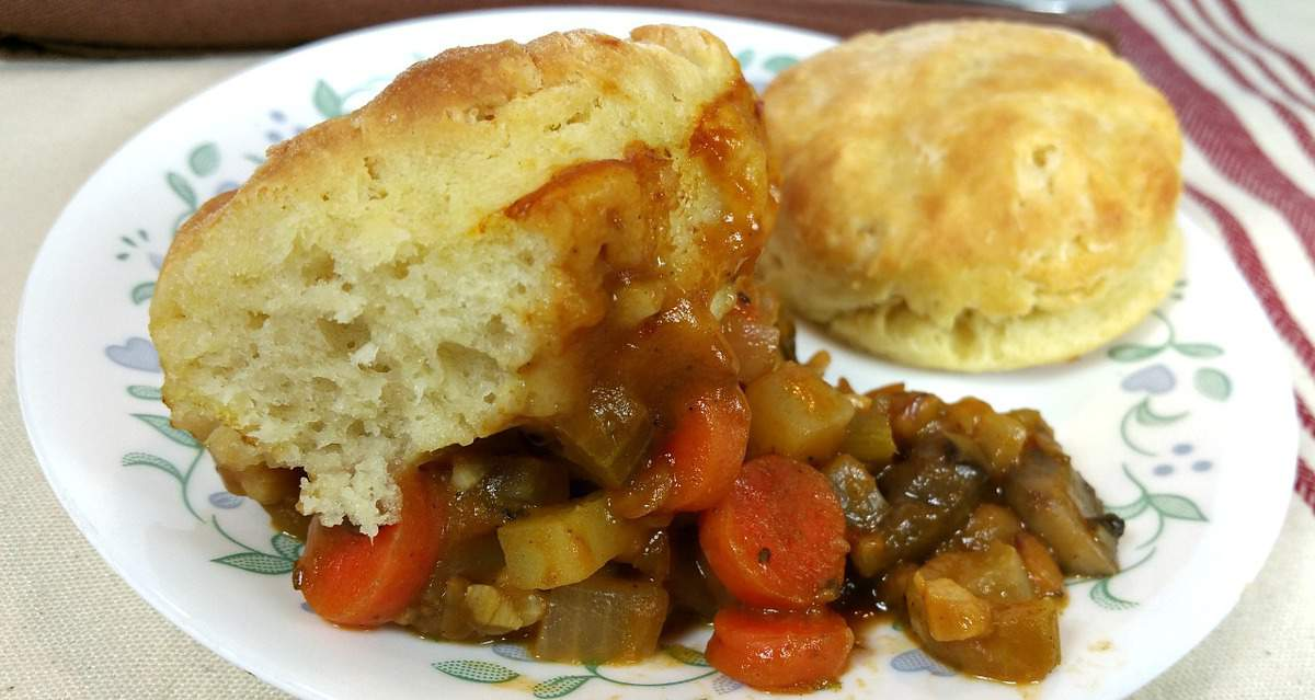 Biscuit and Vegetable Pot Pie