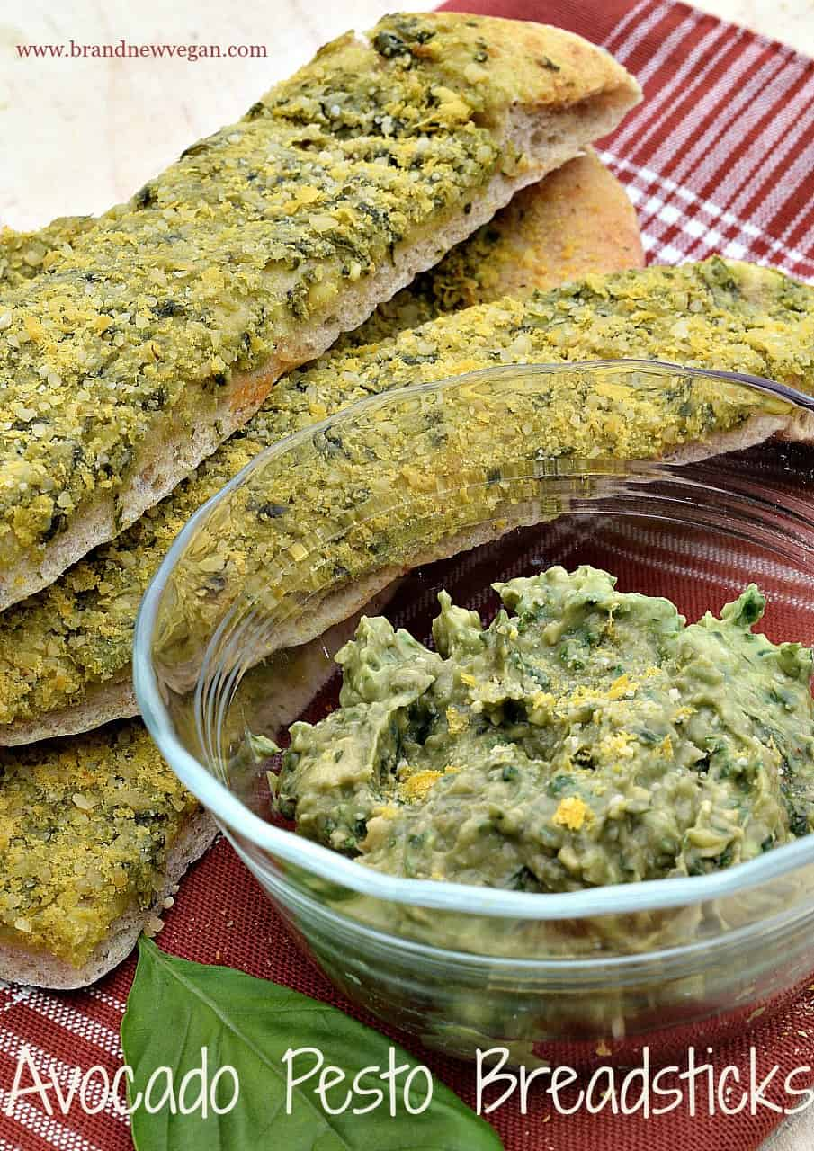 avocado pesto breadsticks pin