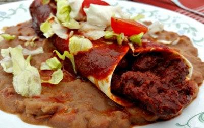 Vegan Carne Adovada Burritos