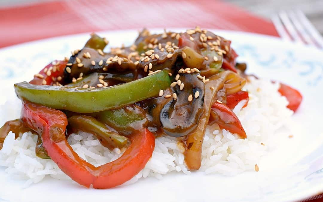 Vegan Chinese Pepper Steak