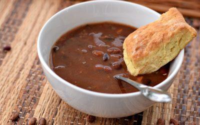 Vegan Bean and Bacon Soup
