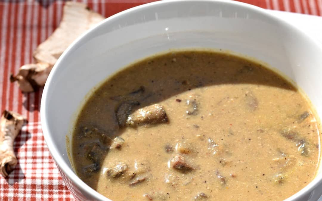 Vegan Cream of Mushroom Soup