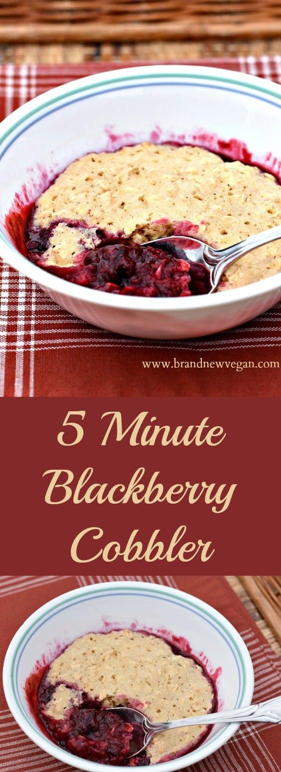 5 minute blackberry cobbler pin