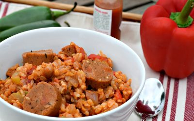 Vegan Jambalaya with Andouille Sausage
