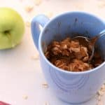 apple crisp in a mug