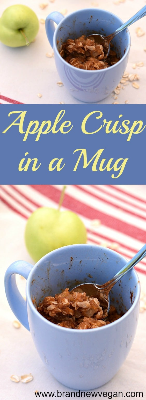 apple crisp in a mug pin