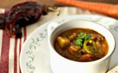 Vegan Green Chile Stew Instant Pot Recipe