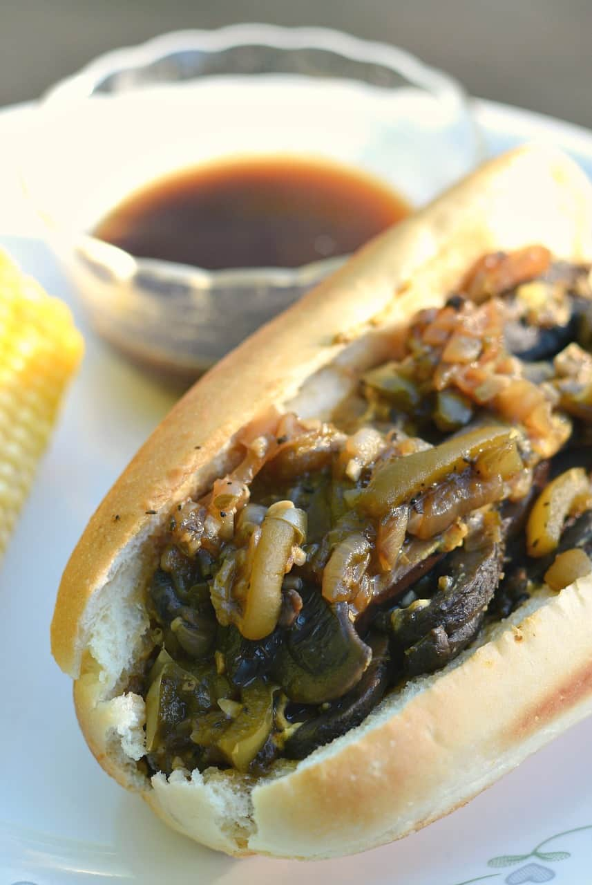 vegan portabella french dip