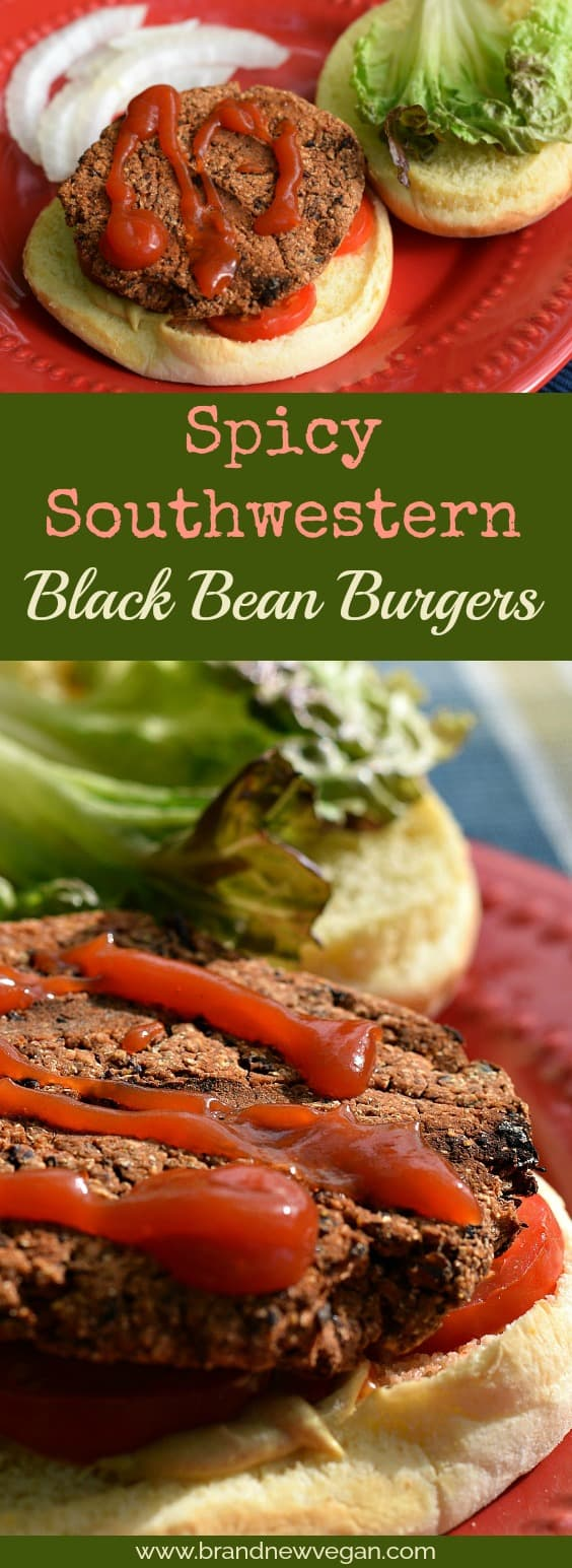 These Black Bean Burgers are a spicy blend of black beans, kidney beans, chipotle chiles, and salsa that makes not only a tasty burger, but also one that won't fall apart on the grill.