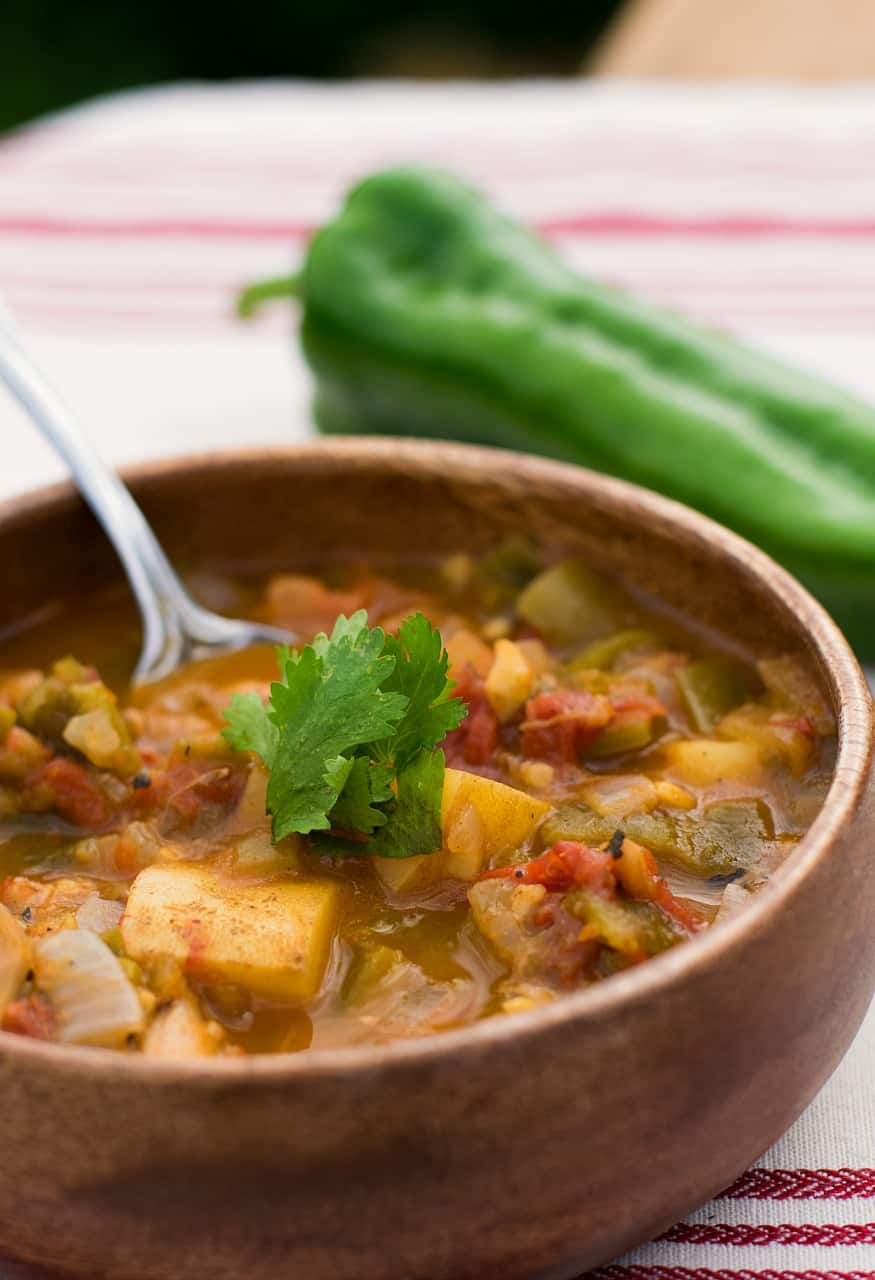 vegan green chile stew