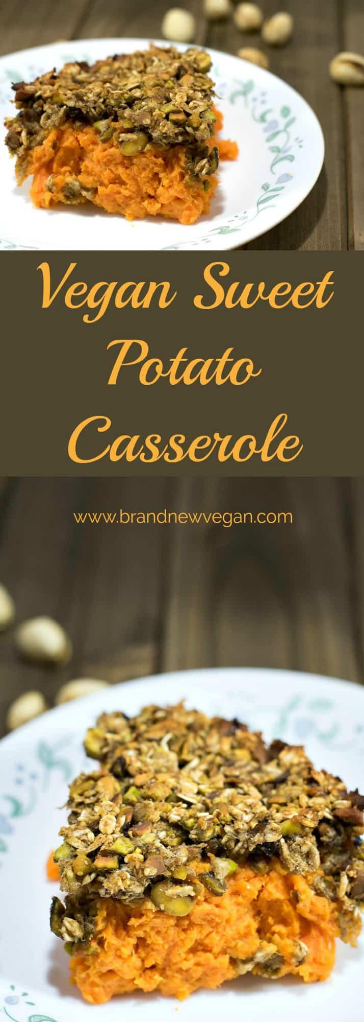 This Vegan Sweet Potato Casserole will definitely grace my table this holiday season. No butter, no oil, no marshmallows, just pure sweet potato happiness.