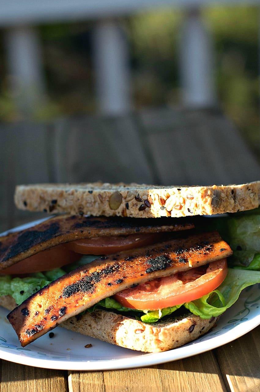 Smoky Maple Tofu Bacon Vertical