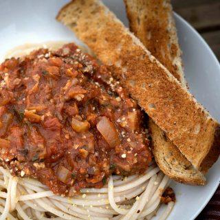 Vegan Bolognese Sauce