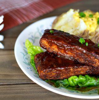 BBQ Tempeh Vegan Ribs