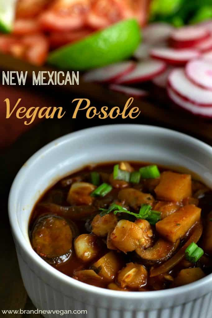 While living in Albuquerque, there were 2 things I could always count on during the holidays…..Tamales, and Posole. So in order to continue enjoying one of MY favorite holiday recipes, I created this version of New Mexican Vegan Posole.