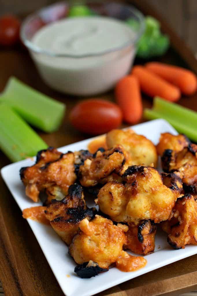 spicy asian cauliflower wings