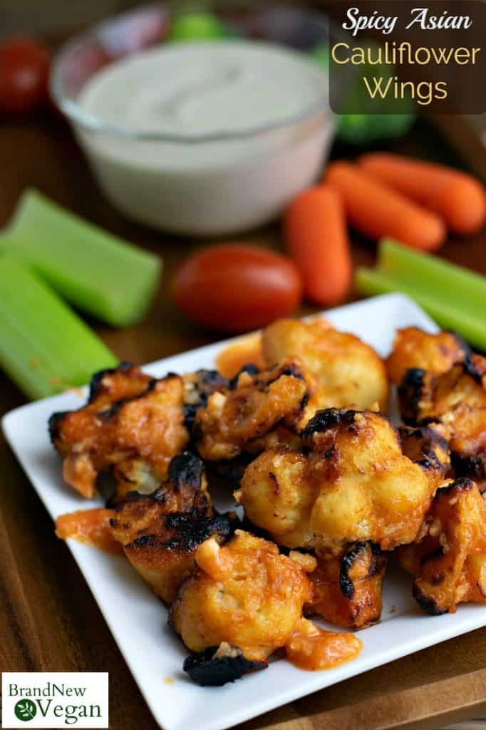 Craving those spicy buffalo wings during the big game but you're trying to stick to your new plant-based diet and don't know what to do? Then you have GOT to try these Spicy Asian Cauliflower Wings! Slightly sweet with just the right amount of spice - forget the field goal unit, this one is a touchdown!