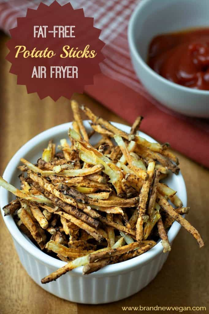 These fat-free Potato Sticks have got to be my easiest recipe yet and they make the perfect guilt-free snack. Just like our vending machine favorite only without the fat!