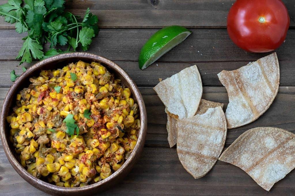 vegan mexican street corn dip