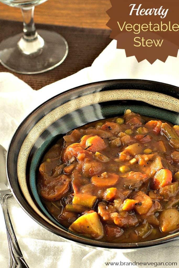 Hearty Vegetable Stew Brand New Vegan