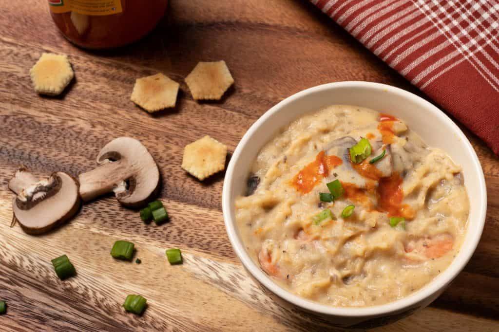 Creamy Hash Brown Mushroom Chowder
