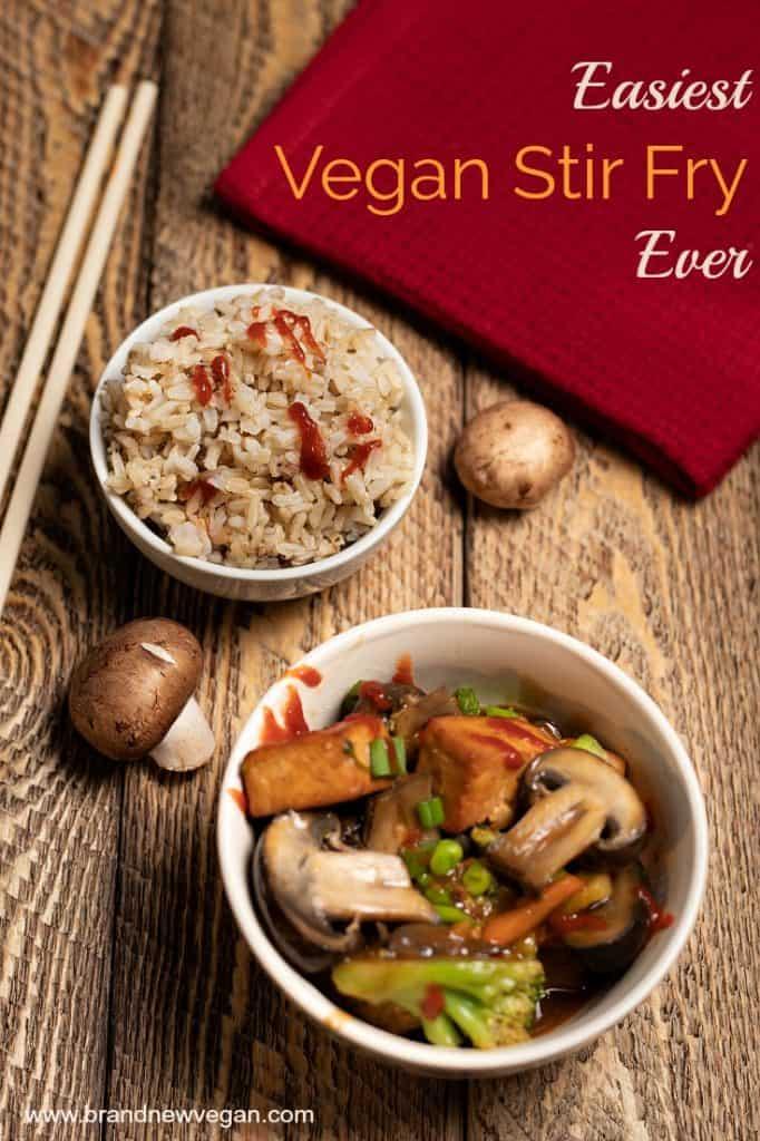 easiest vegan stir fry
