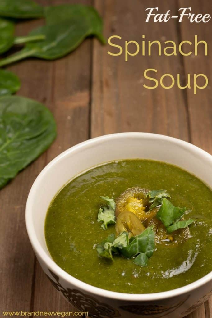 fat-free spinach soup