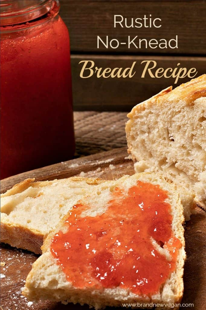 rustic no-knead bread recipe