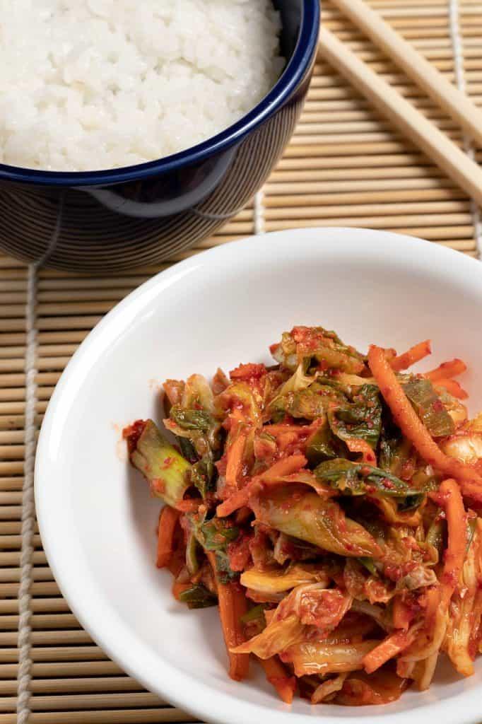 spicy vegan kimchi