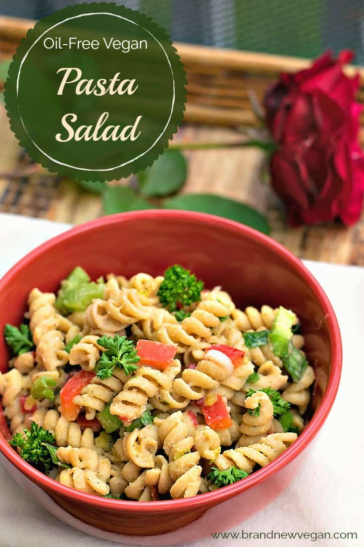 oil free vegan pasta salad