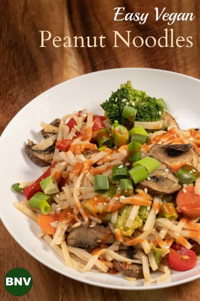 easy vegan peanut noodles