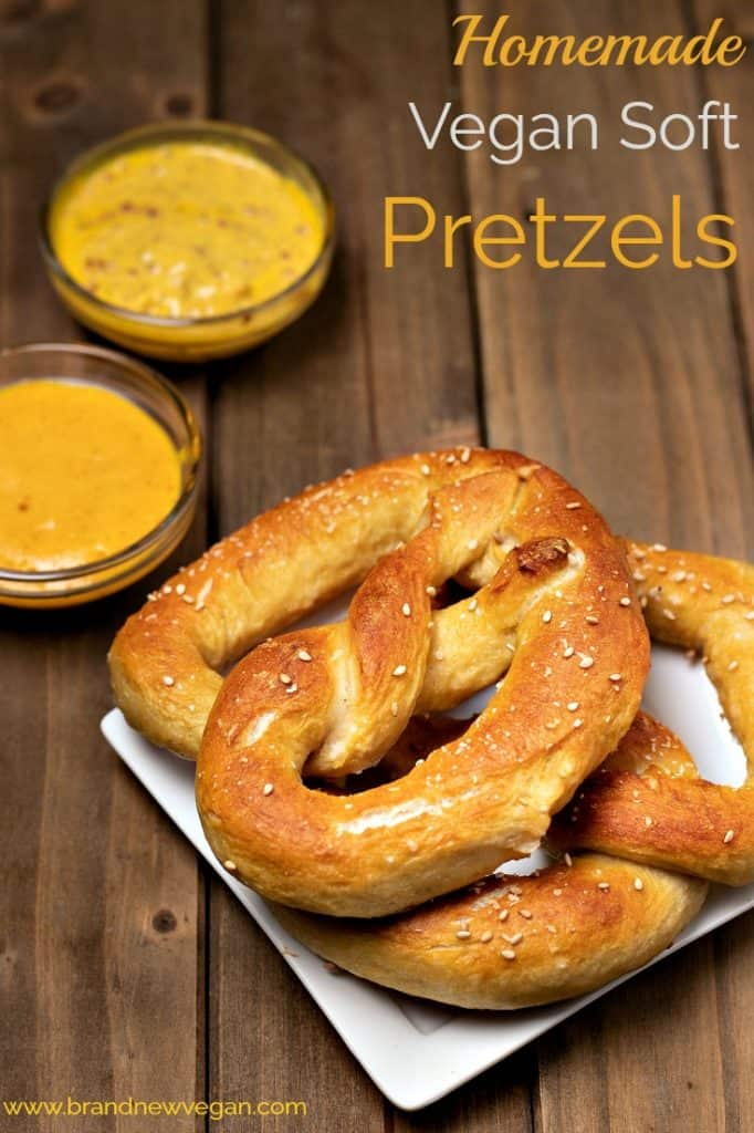 homemade vegan soft pretzels