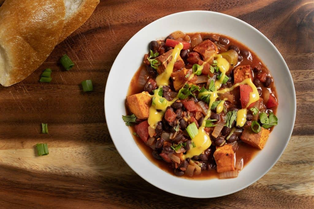 vegan sweet potato chili